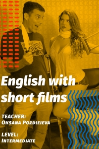 English with short films.